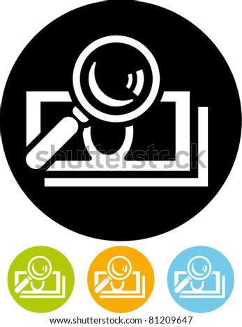 Money audit - Vector icon