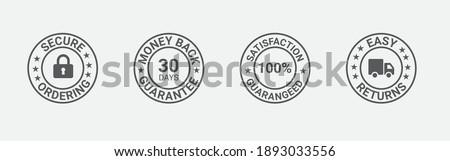 Money back guarantee, Free Shipping Trust Badges ,Trust Badges