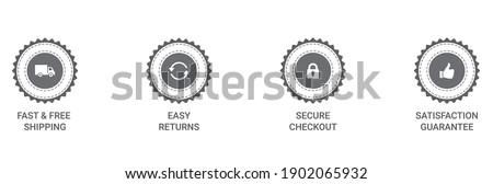 Money back guarantee, Free Shipping Trust Badges ,Trust Badges vector