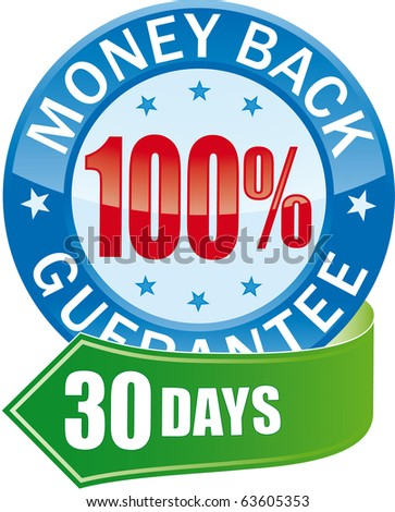 Money Back Guarantee Glossy Web Icon
