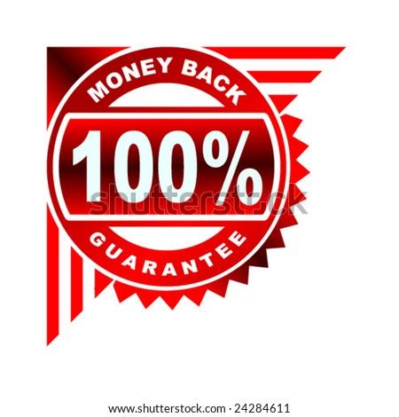 money back guarantee red corner label