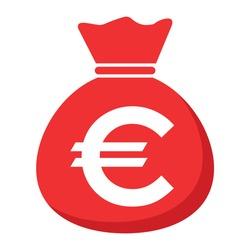 Money bag icon isolated on white background. Bank symbol, profit graphic, flat web sign