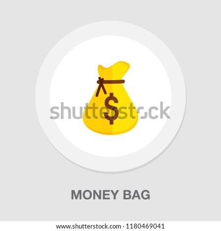 money bag icon   vector dollar...
