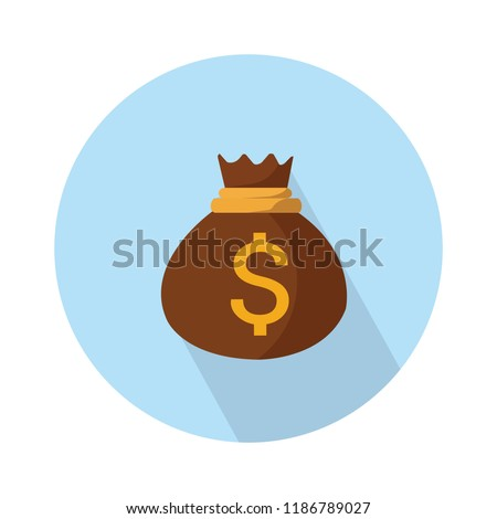 money bag icon - vector dollar sign - banking cash - finance investment icon