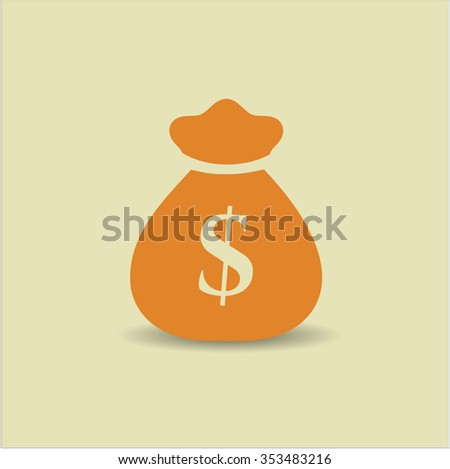 Money Bag icon vector illustration