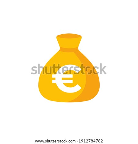 Money bag, income, financing and investing icon with euro Stock photo ©