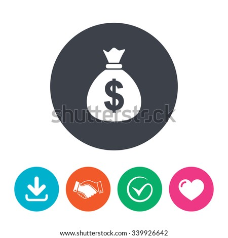 Royalty Free Stock Photos And Images Money Bag Sign Icon
