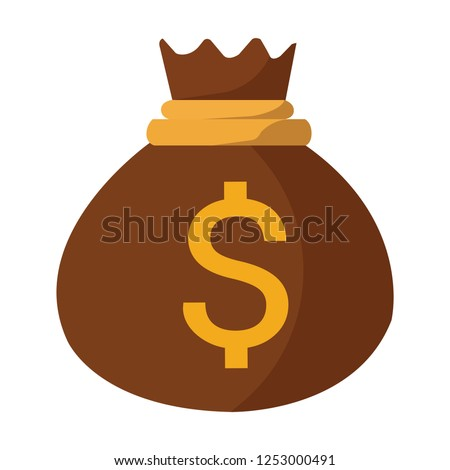 Money bag vector icon, moneybag flat simple illustration dollar sign isolated on white background
