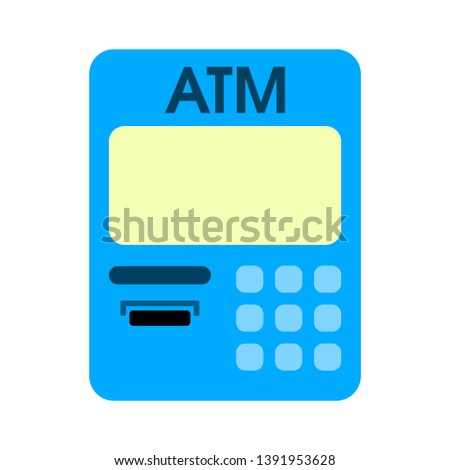 money banking atm machine icon
