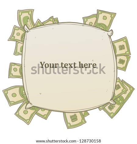 money banner isolated