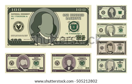 money bill icons detailed