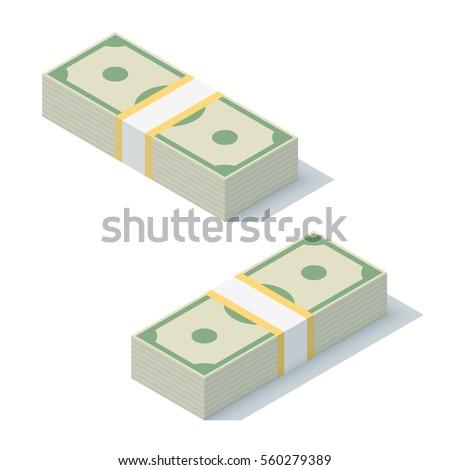 money bundle of dollars bank
