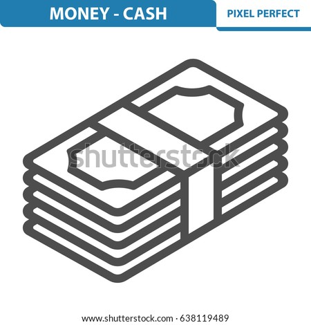 Money - Cash Icon. Professional, pixel perfect icons optimized for both large and small resolutions. EPS 8 format. 12x size for preview.