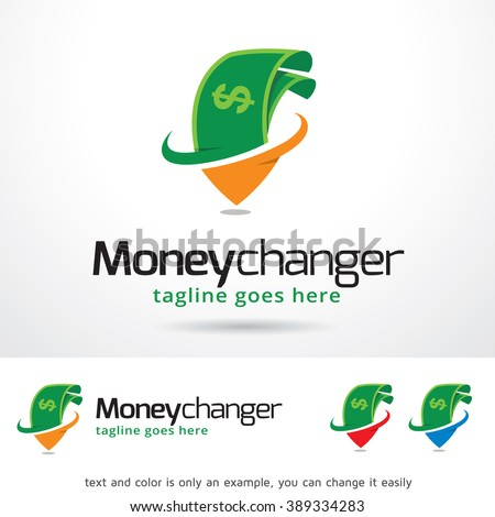 Money Changer Logo Template Design Vector