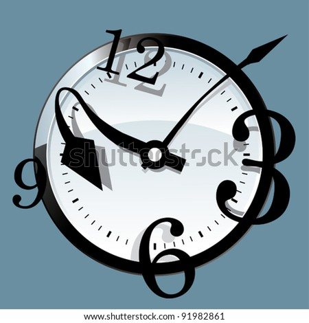 Money clock. - stock vector