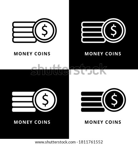 money coins icon symbol dollar