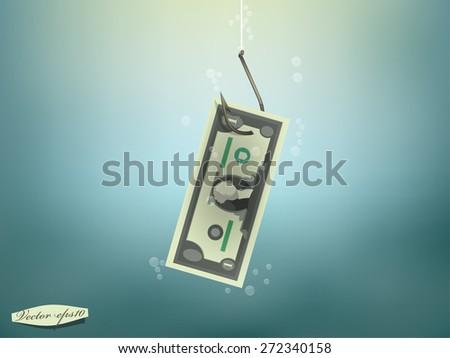 money concept illustration  us