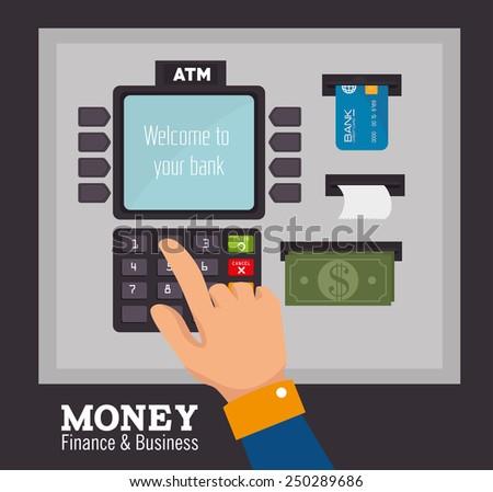 Money design over black background, vector illustration.