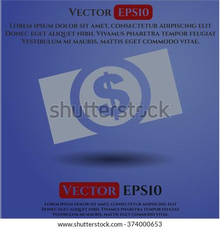 Money (dollar bill) high quality icon