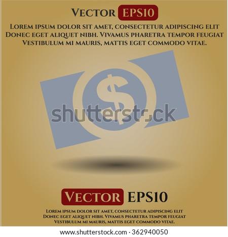 Money (dollar bill) icon vector illustration
