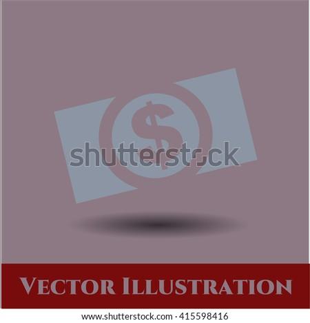 Money (dollar bill) vector icon