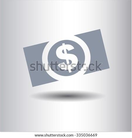 Money (dollar bill) vector icon or symbol