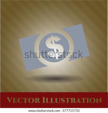 Money (dollar bill) vector symbol