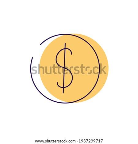 Money dollar sign gold coin icon vector Foto stock ©
