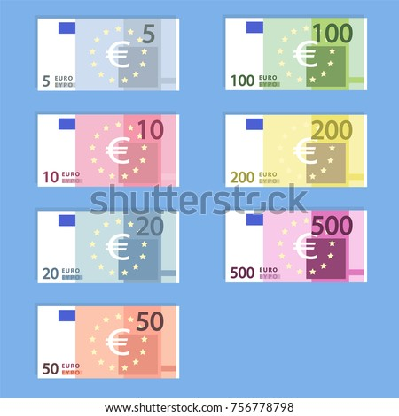 money euro banknotes  simple