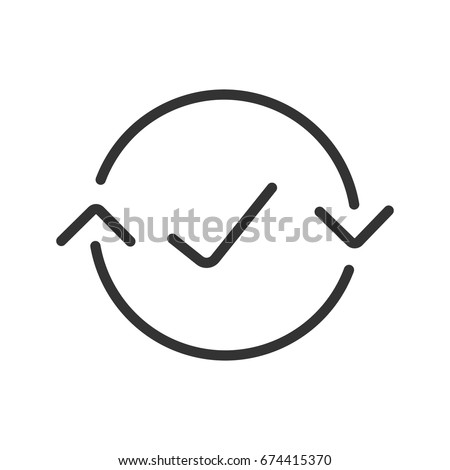 Money exchange complete linear icon. Thin line illustration. Refund contour symbol. Vector isolated outline drawing