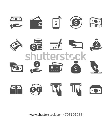 Money flat icons. #705901285