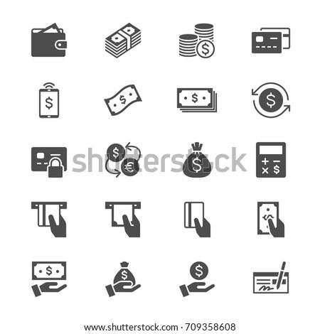 Money flat icons #709358608