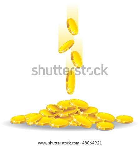 money golden rain, vector illustration