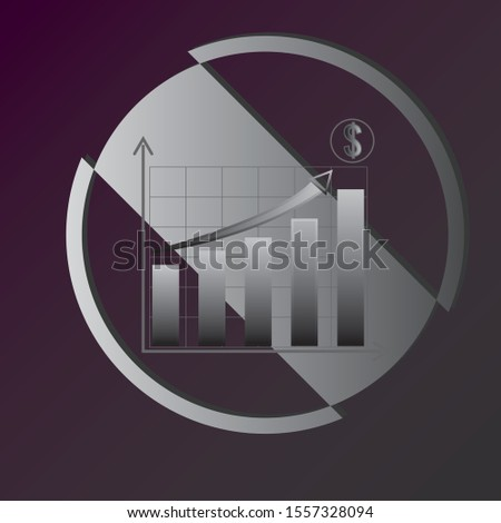 money growth, economy growth and graph vector to work your design image, to create illustrations, artistic works
