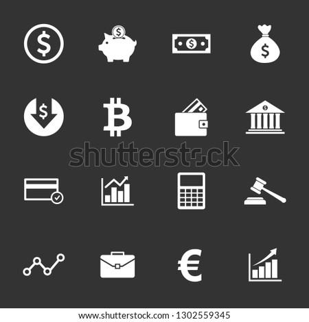 money icon and finance icon set symbol vector