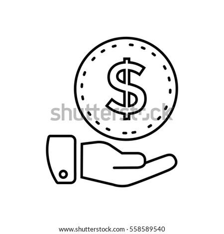 Money icon Flat.