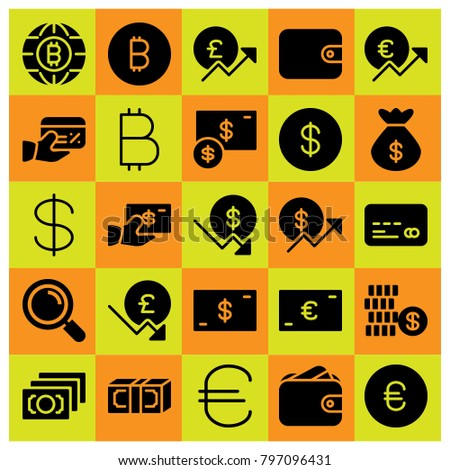 Money icon set vector. dollar, money, wallet and coin #797096431