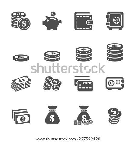 money icon set  vector eps10