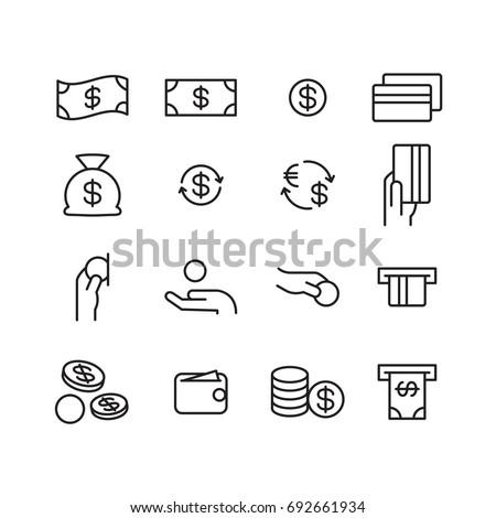 money icon, vector