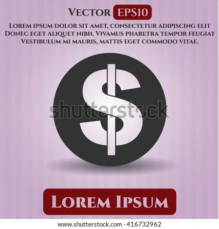 money icon vector symbol flat eps jpg app web concept website