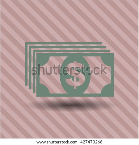 money icon vector symbol flat eps jpg app web concept website