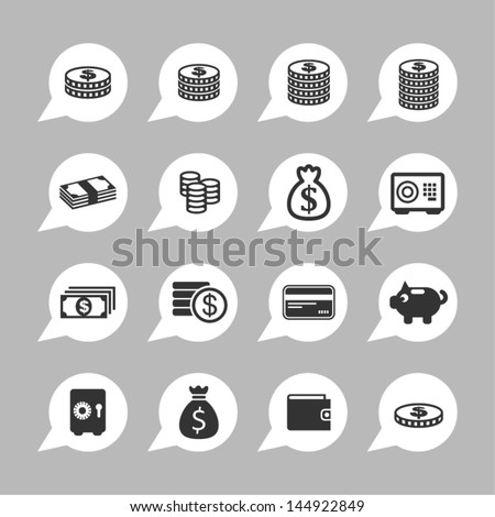 Money icons for site