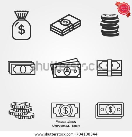 money icons  money icons vector