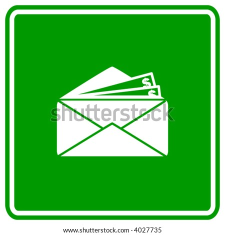 money in envelope sign