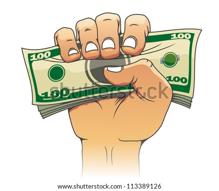 Money in people hand for investment concept design. Jpeg version also available in gallery