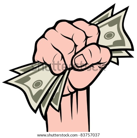 Money in the hand (Hand with money, Hand holding Banknotes )