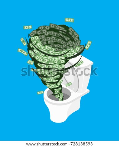 money in toilet wash off cash
