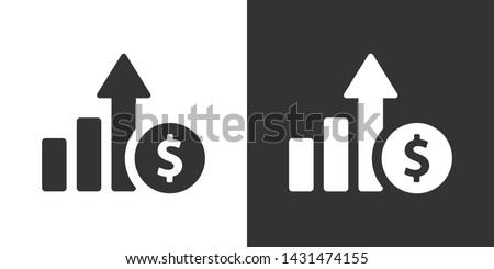 Money Increase Sign  Icon Vector Foto stock ©