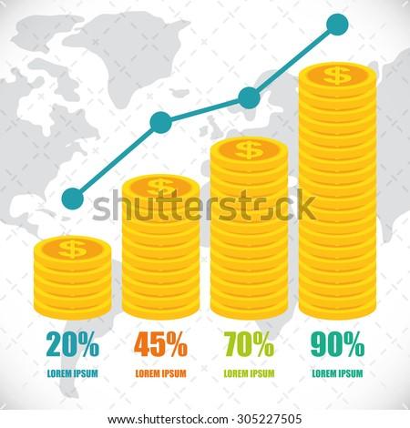 Money infographics design, vector illustration eps 10.