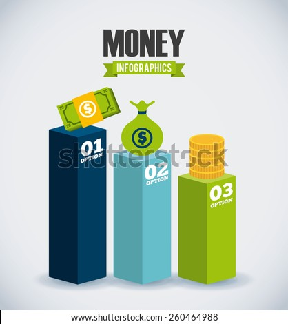 money infographics design